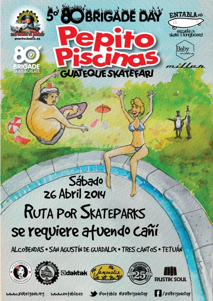 80 brigade day 2014 ruta entabla for Pepito piscina