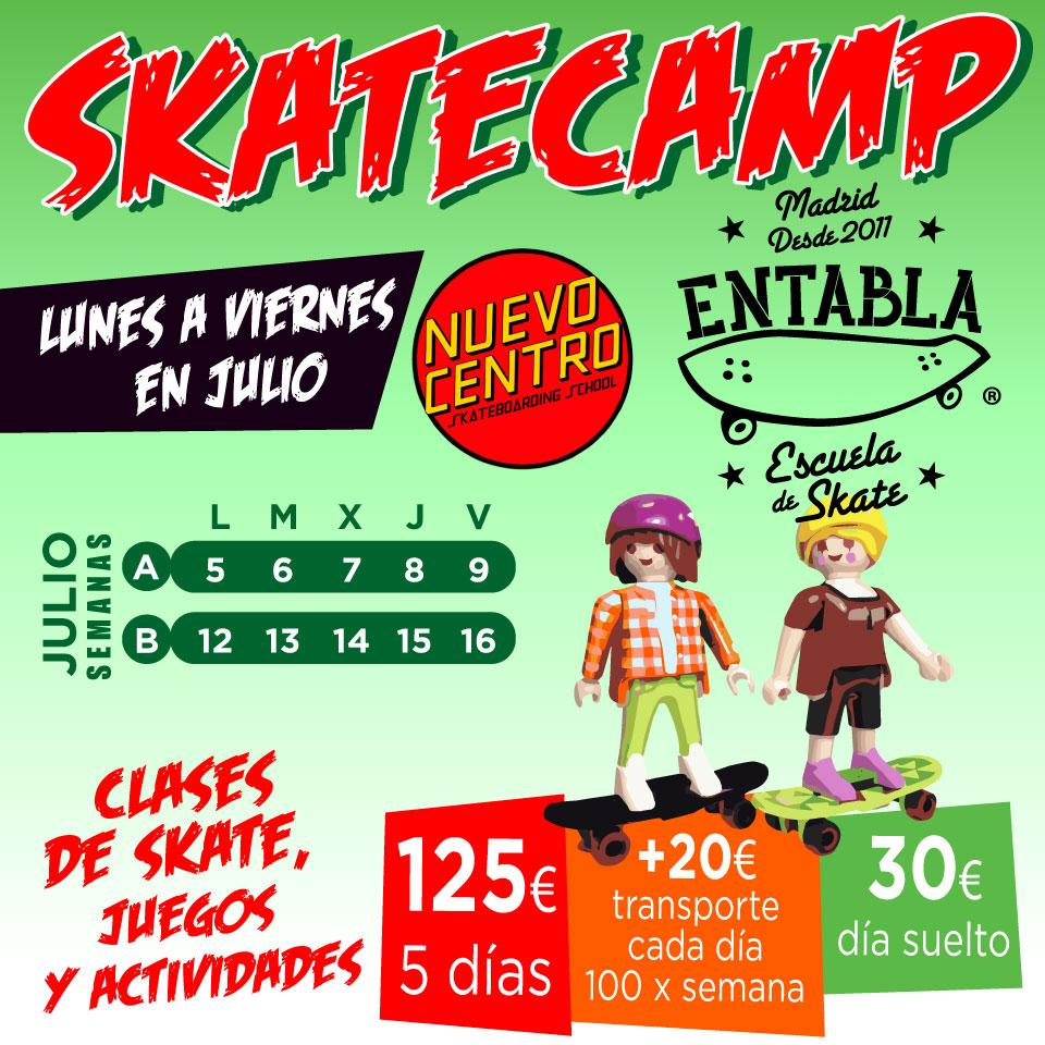 Campamento skate en julio
